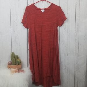 Lularoe red carly dress medium